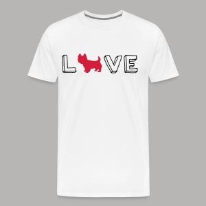 Westie Love - Men's Premium T-Shirt