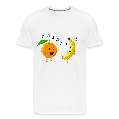 Dancing Orange and Banana - Men's Premium T-Shirt