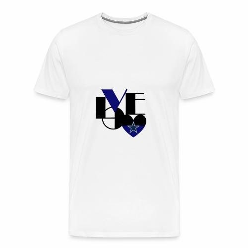 Cowboys Fan Love - Men's Premium T-Shirt