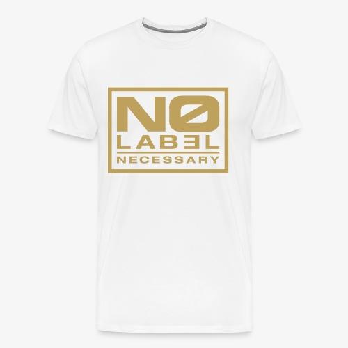 No Label Necessary Gold Logo - Men's Premium T-Shirt