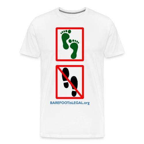 No shoes yes feet - Men's Premium T-Shirt