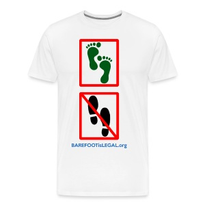 No shoes yes feet - Men's Premium T-Shirt