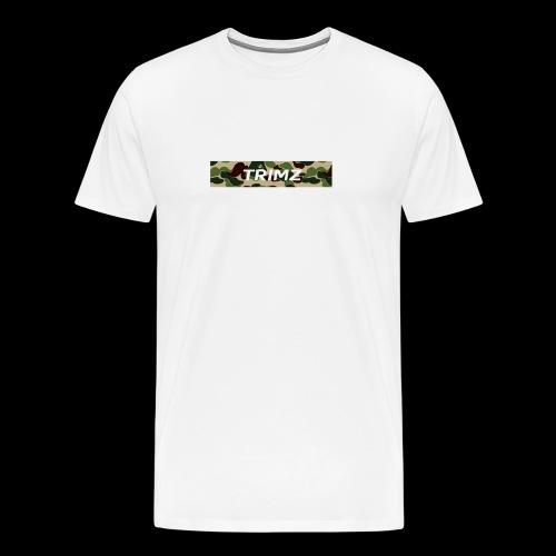 Trimz Army Camo Box Logo - Men's Premium T-Shirt