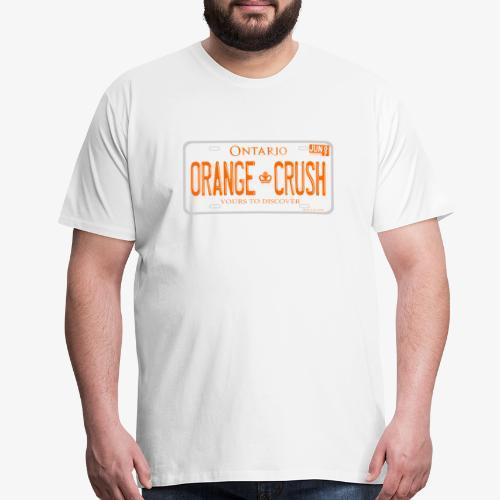 ONTARIO NDP ORANGE CRUSH LICENCE PLATE - Men's Premium T-Shirt