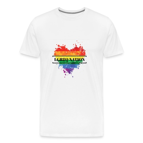 LGBTQ Nation Rainbow Heart - Men's Premium T-Shirt
