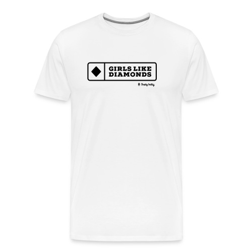 dustybetty Black Girls Like Diamonds design - Men's Premium T-Shirt