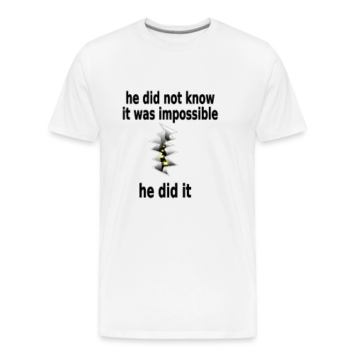 t shirt impossible and makes man rip breach FC - Men's Premium T-Shirt