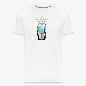 Old School Cell Phone Message - Men's Premium T-Shirt