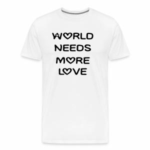 World Needs More Love - Men's Premium T-Shirt
