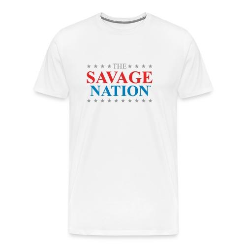 The Savage Nation Logo sch - Men's Premium T-Shirt