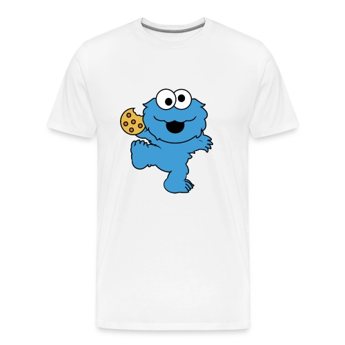 Dancing cookie monster mug - Men's Premium T-Shirt