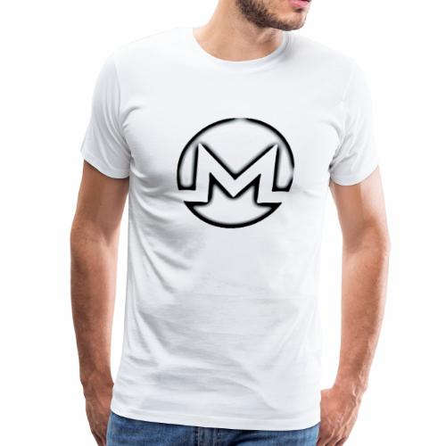 Monero B&W - Men's Premium T-Shirt