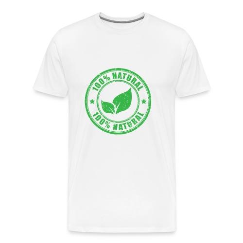 100 natural Organic Crunchy - Men's Premium T-Shirt