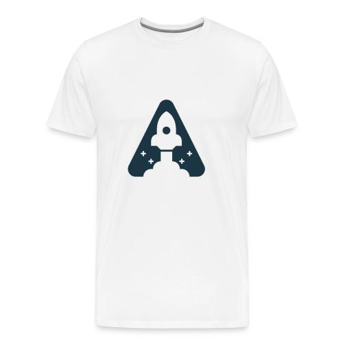 T-shirt with Space Ship. - Men's Premium T-Shirt