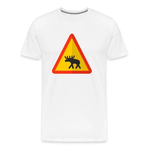 Moose Warning - Men's Premium T-Shirt