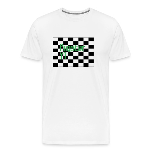 Checkers Pug - Men's Premium T-Shirt