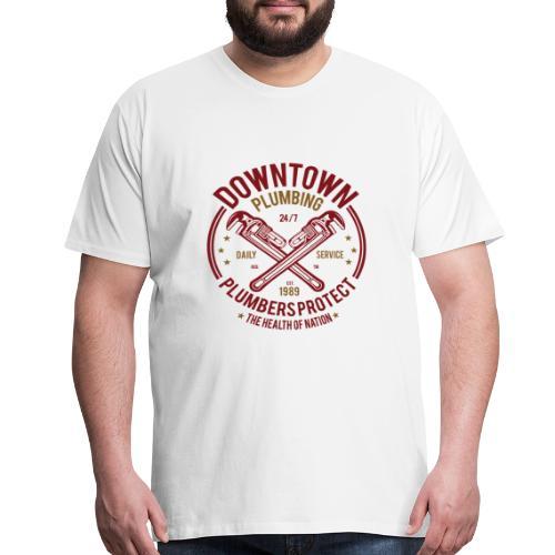 Downtown Plumbing - Men's Premium T-Shirt
