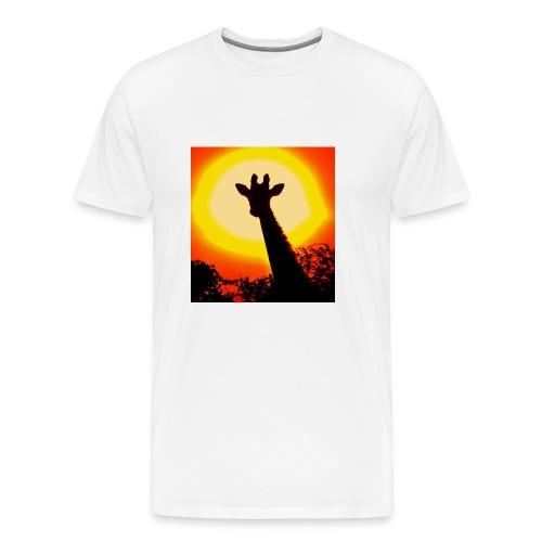 sunset giraffe - Men's Premium T-Shirt