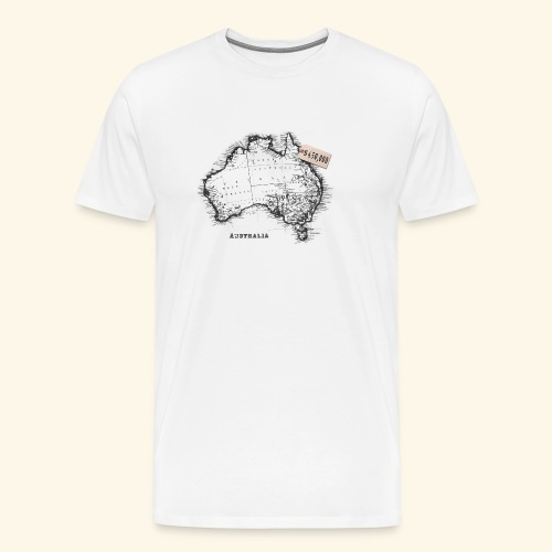 Australian Map - Men's Premium T-Shirt
