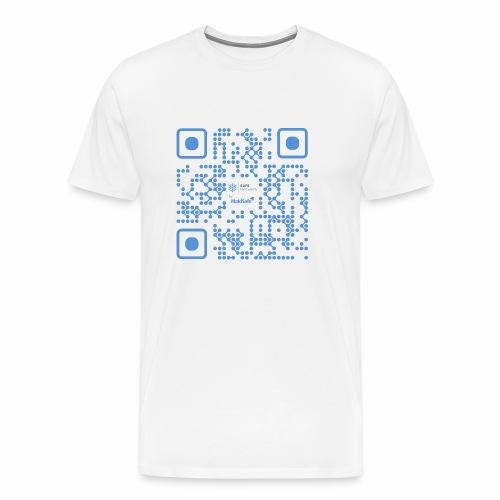QR Maidsafe.net Blue - Men's Premium T-Shirt