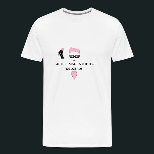 pink_beard_number baby/todd - Men's Premium T-Shirt