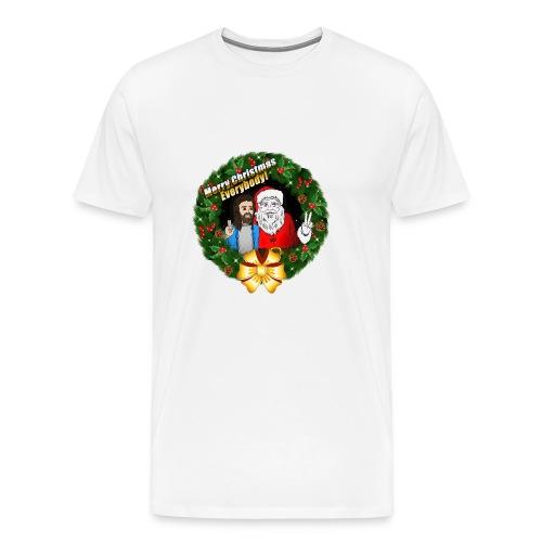 Merry Christmas: Santa And Christ Tshirt - Men's Premium T-Shirt