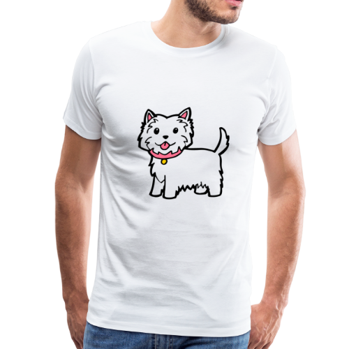 Cute Westie Dog - Men's Premium T-Shirt