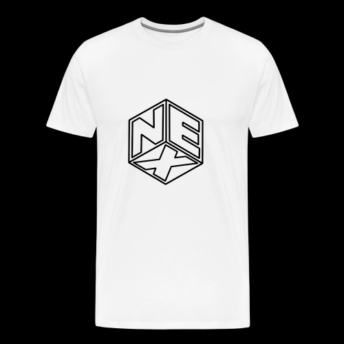 Nexagonal Logo (White_ - Men's Premium T-Shirt
