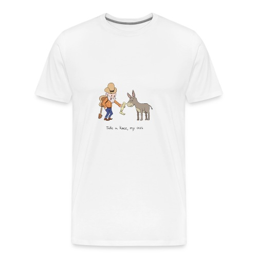 Take a knee my ass - Men's Premium T-Shirt