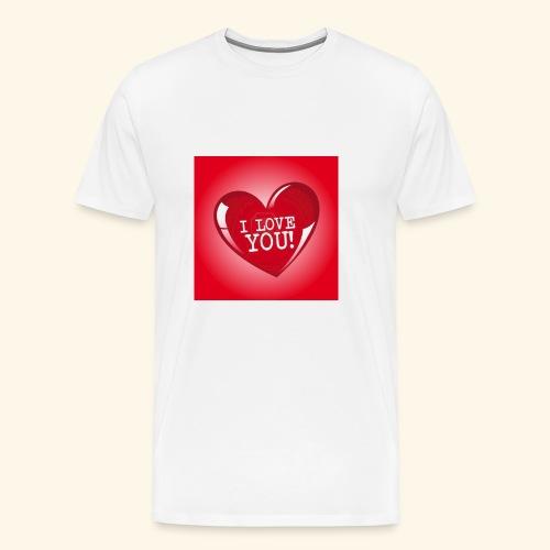 red heart i love you - Men's Premium T-Shirt