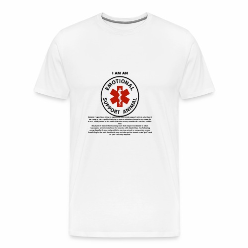emotional support animal - Men's Premium T-Shirt
