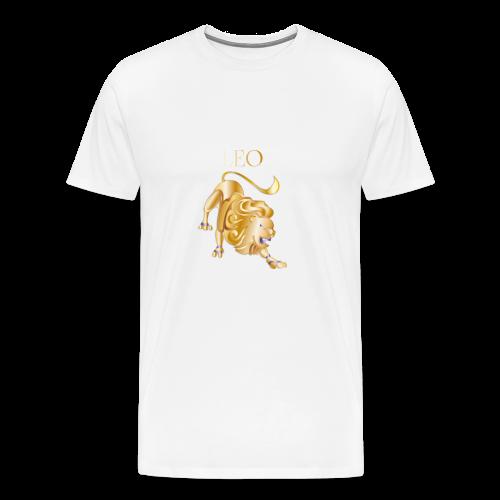 Leo (Purple and Gold) - Men's Premium T-Shirt