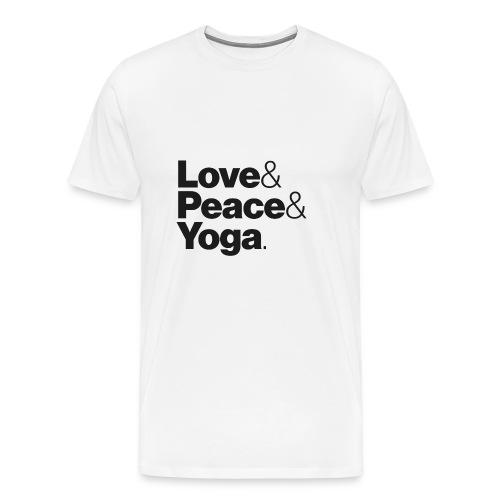 Love & Peace & Yoga - Men's Premium T-Shirt
