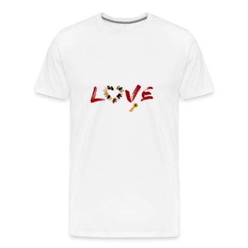 Love Is The Key - Men's Premium T-Shirt