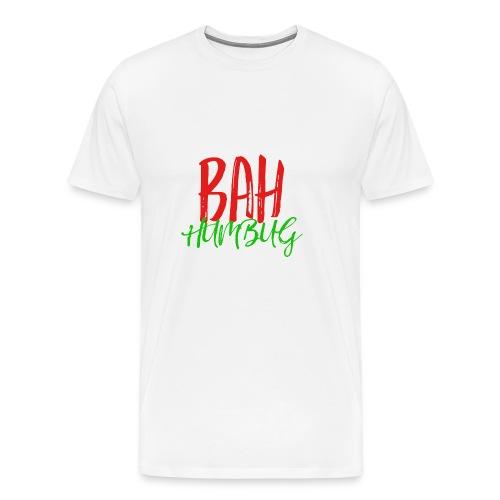 Bah Humbug Handwritten - Men's Premium T-Shirt