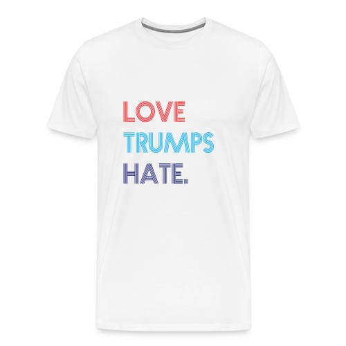 Love Trumps Hate Retro - Men's Premium T-Shirt