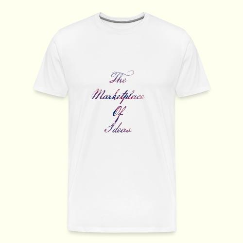 The Marketplace Of Ideas Word Logo - Men's Premium T-Shirt