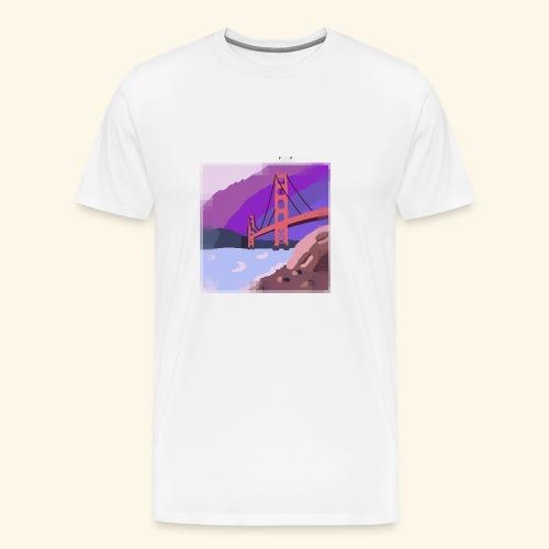 Golden Gate Bridge Hand Drawn - Men's Premium T-Shirt