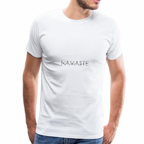 NAMASTE meditation spritual henna yoga chakra - Men's Premium T-Shirt