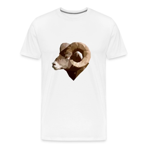 Manni the RAM Polygon - Men's Premium T-Shirt