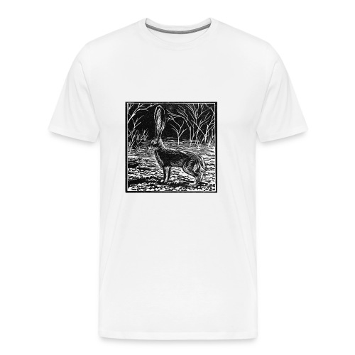 Jackrabbit Linocut - Men's Premium T-Shirt
