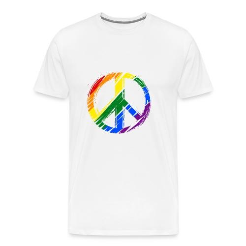 lgbt peace - Men's Premium T-Shirt