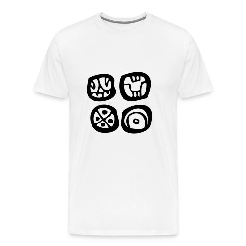 Four Maya Symbols - Mayan script - Mayan glyphs - Men's Premium T-Shirt
