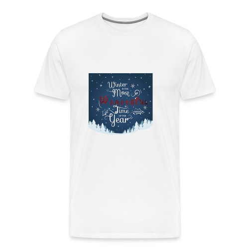 Winter Theme - Men's Premium T-Shirt