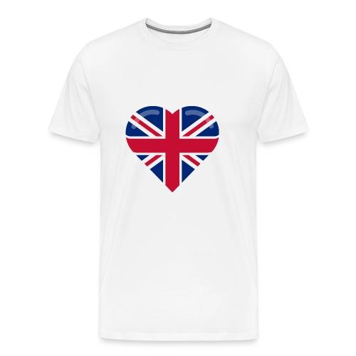 brit heart - Men's Premium T-Shirt