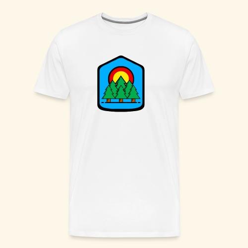 blue background - Men's Premium T-Shirt