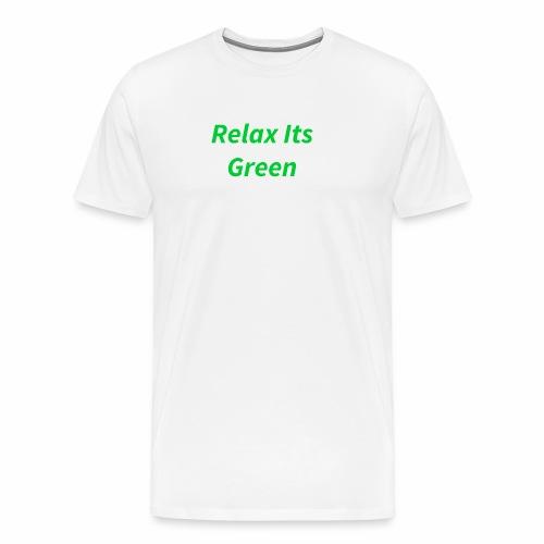 Relax Its Green Merch - Men's Premium T-Shirt