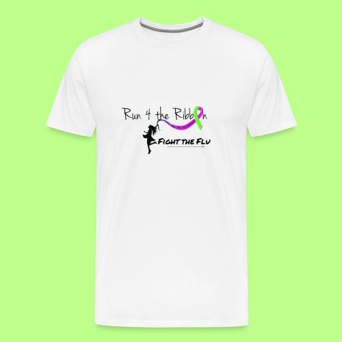 FIGHT THE FLU RUNNING 4 THE RIBBON - Men's Premium T-Shirt