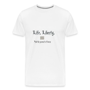 Life, Liberty, and Bacon - Men's Premium T-Shirt