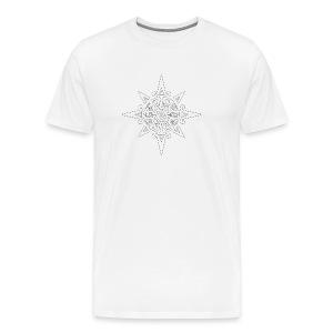 inca sun symbol contour - Men's Premium T-Shirt